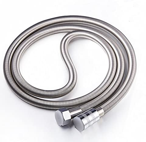 Stainless Steel Shower Hose Extra Long 79 Inch Length Flexible Chrome Hose Replacement for Bathroom (Girevole Tubo Connettore)