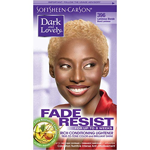 SoftSheen-Carson Dark and Lovely Fade Resist Rich Conditioning Color, Luminous Blonde 396 (Best Box Dye To Lighten Dark Hair)