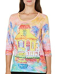 Womens Pineapple Place Scenic Top
