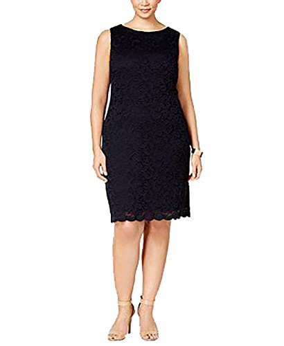 Charter Club Plus Size Textured Lace Sheath Dress