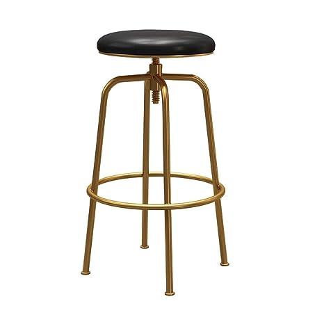 Enjoyable Amazon Com Szpzc Metal Bar Stools 25 To 33 Adjustable Ibusinesslaw Wood Chair Design Ideas Ibusinesslaworg