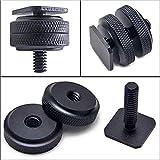"""Meiyiu 1/4"""" inch Dual Nuts Tripod Mount Screw to Flash Camera Hot Shoe Adapter"""