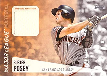 faac731f0b3 2019 Topps Relics  MLM-BP Buster Posey Game Worn Giants Jersey Baseball  Card -