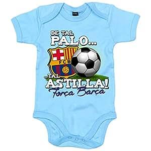Body bebé de tal palo tal astilla Força Barça FC Barcelona - Celeste, 6-12 meses