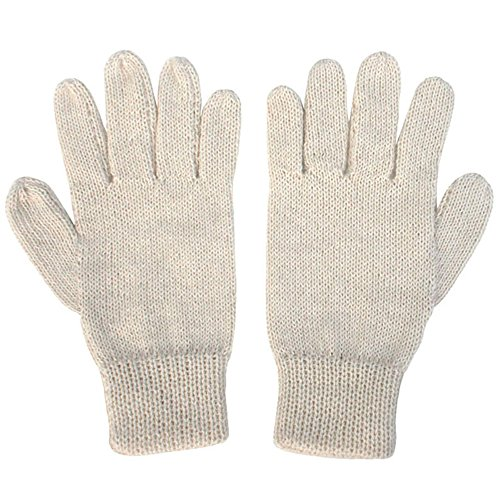 (The Alpaca Collection, 100% Alpaca Wool Knit Gloves Off-White Large)