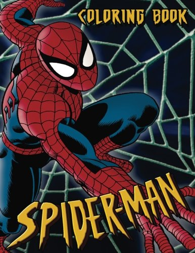 Spiderman Coloring Book: Coloring Book for Kids and Adults 45+ illustrations (Perfect for Children Ages 3-5, 6-8, 8-12+)]()