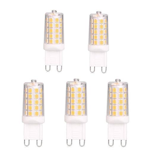 BAOMING G9 Bombillas LED 4W Blanco Cálido 400lm, Reemplazo de 40W Halógeno, Bajo Consumo