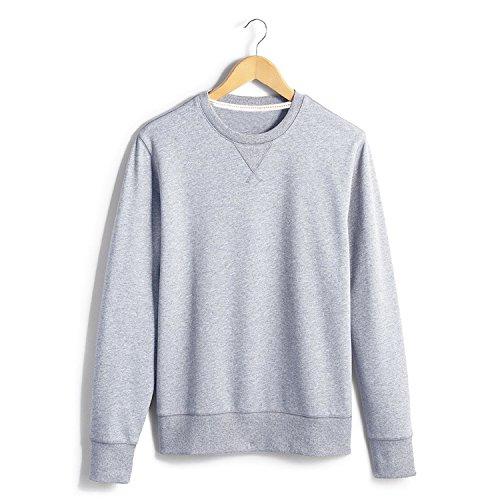 Lisux Reiner Baumwolle um den Hals Pullover um den Hals Pullover schlanke männer Pullover,licht Blume grau,s