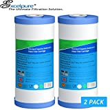 Big Blue Whole house Sediment Water Filter 4.5'' x 10'' (5 micron Compatible with DuPont WFHD13001B,Pentek DGD series, RFC series,Culligan RFC-BBSA,Whirlpool WHKF-GD25BB (W/Rubber Washer)