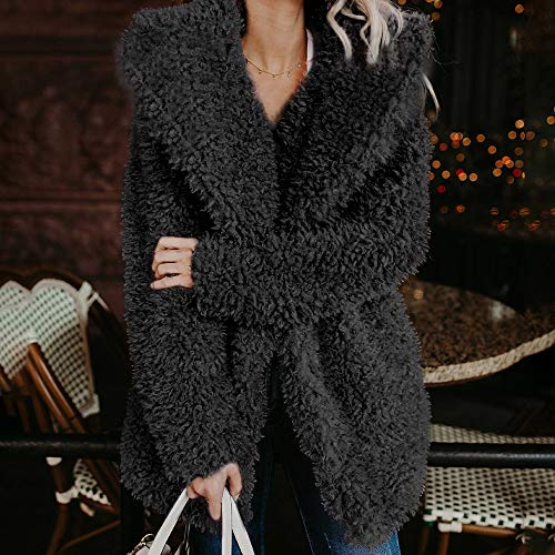 Mode Jacket Parka Épaissir Manteau Longue Leather Longues Veste Duffle 2018 Rembourrée Femme Doudoune Peluche Manches Hiver Noir Coat Fourrure Doublé CC6P0q