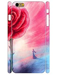 3D Print Stylish Red Rose High Impact Phone Hard Case for Iphone 6 Plus 5.5 Inch