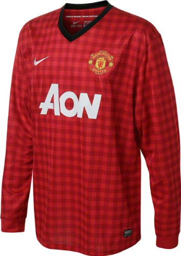 online store 50480 07360 Nike Manchester United Home 2012-13 Long Sleeve Soccer Jersey