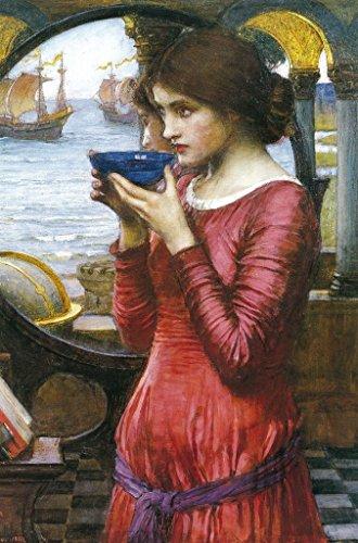 John William Waterhouse Destiny 1900 Pre Raphaelite Style Oil On Canvas Painting Poster 12x18 inch