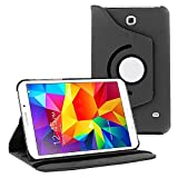 360 Degree Rotating Case Cover w/ Stand for Samsung Galaxy Tab 4 7.0 (Black)
