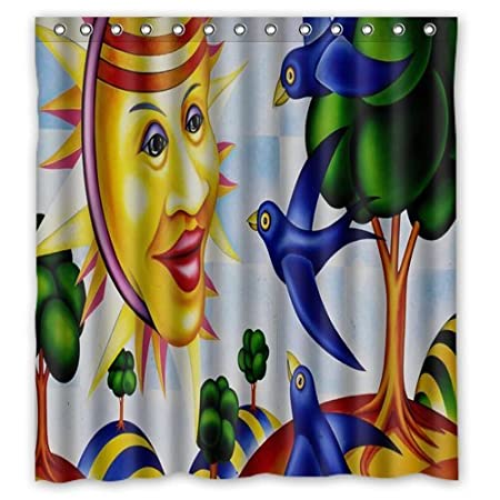 Personalized Custom Fashion Anime Picasso Guernica Art Shower Curtain Bathroom Decoration Mildew Waterproof Polyester Fabric
