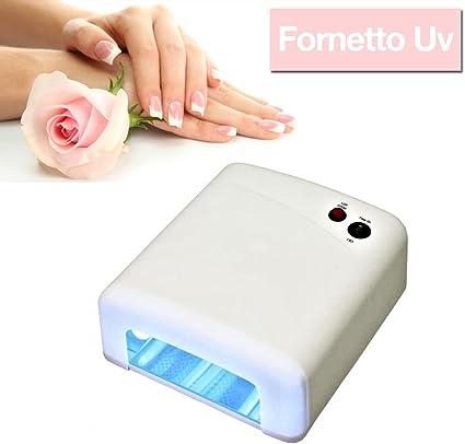 Hornillo. Lámpara para gel de uñas UV 36 W para Nail Art semipermanente.