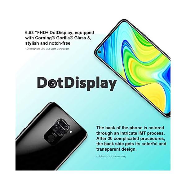 Xiaomi Redmi Note 9 4GB 128GB Smartphone 48MP Cámara Cuádruple MTK Helio G85 Octa Core 6.53″ FHD Teléfono móvil Verde (Black)