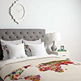 Deny Designs Bianca Green Its Your World Duvet Cover with pillow Shams, Queen