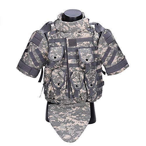 SmartHS OTV Tactics Vest 900D Oxford Protective Modular Vest Jacket Body Armor for Hunting Training Outdoor Sports Activities with Attachable Pouches (ACU)
