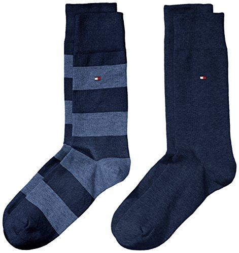 Tommy Hilfiger Men's Th Men Rugby Sock 2p Calf Socks - Blue - 9/11