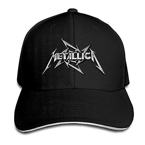 Logon 8 Metallica Personalize Sandwich Peaked Cap Black One Size (Lightning Returns Guide Book)