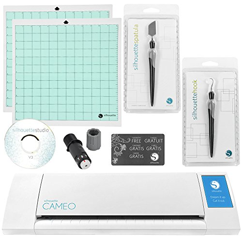 Silhouette Cameo Digital Craft Cutter with Tool Bundle (Digital Silhouette Craft Cutter)