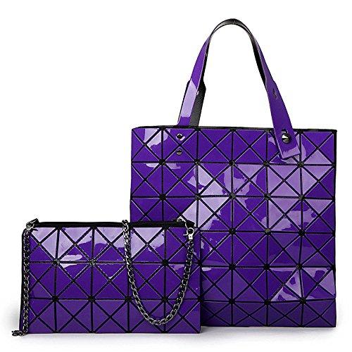 Big Tracolla Purple Borsette Borse Bags Impunture Laser Geometria Donna Wlfhm A Lingge zFOnx1zWP