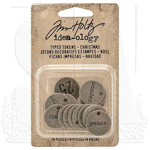 Idea-Ology Metal Typed Tokens .75
