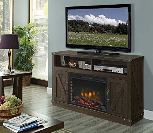 Muskoka 370-05-200 Electric Fireplace, Rustic Brown