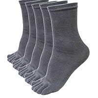 MOHOLL Five Finger Socks,Toe Socks Soft & Breathable Running Crew Socks for Mens, 5 Pairs Socks Included