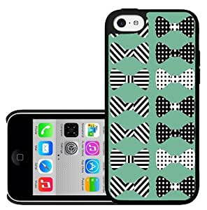 Black and Teal Stripes and Polka Dot Bows Hard Snap on Case (iPhone 5c)
