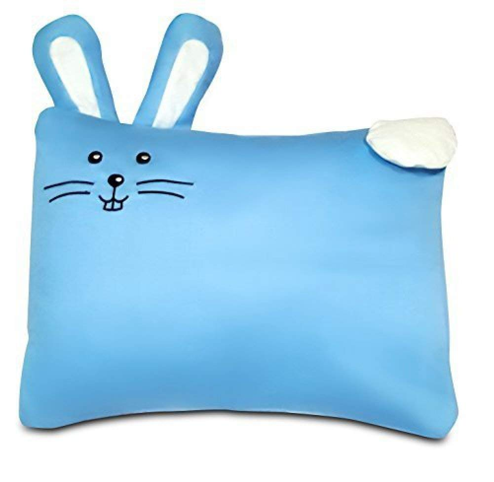 "Toddler PILLOW CASE -100% Cotton-For 13""x18""and 14""x19"" Pillows - Blue Sedimor PinkBunny"
