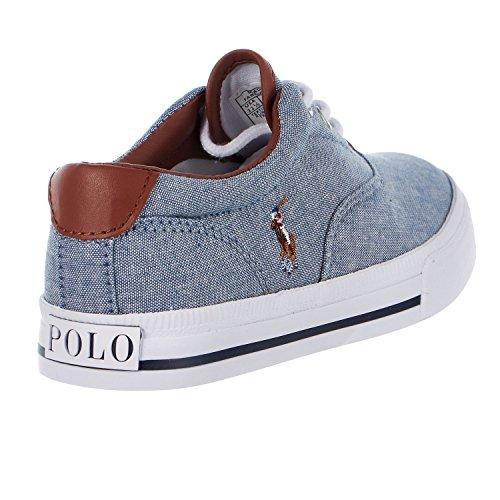 Little Canvas Toddler Blue Sneaker Kid N Fuchsia Player Kid Big Multi Lauren Polo Vaughn Ralph Kids II Fashion Chambray Pony zPqvY