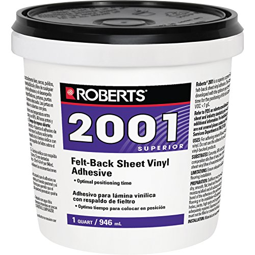 Roberts 2001-0 Vinyl Glue Adhesive, 1 Quart (Flooring Adhesive Sheet)