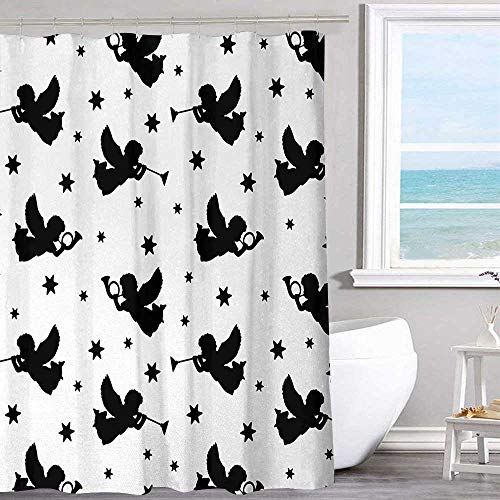 MKOK Hotel-Level Shower Curtain 54