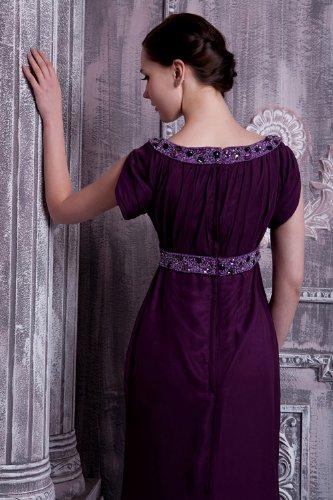 mit lila GEORGE Abendkleid verziert Lila Lange BRIDE Formale Perlen Zeitlos 1AAqSaw