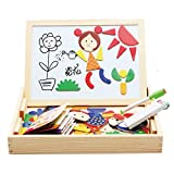 Children Kid's Multifunctional Writing Board Magnetic Figure Puzzle Sketchpad Wooden Toy