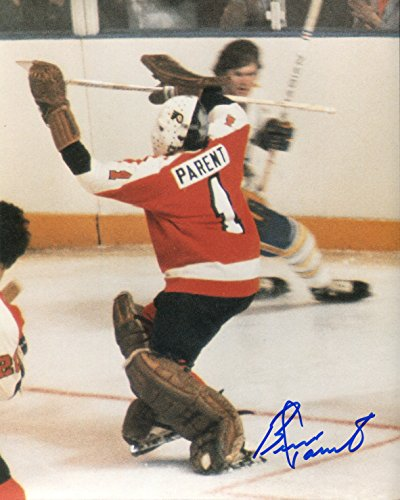 Bernie Parent Signed/Autographed Philadelphia Flyers Glossy Photo. Includes Starleague Certificate Of Authenticity. NHL Hockey Autograph Original. ()