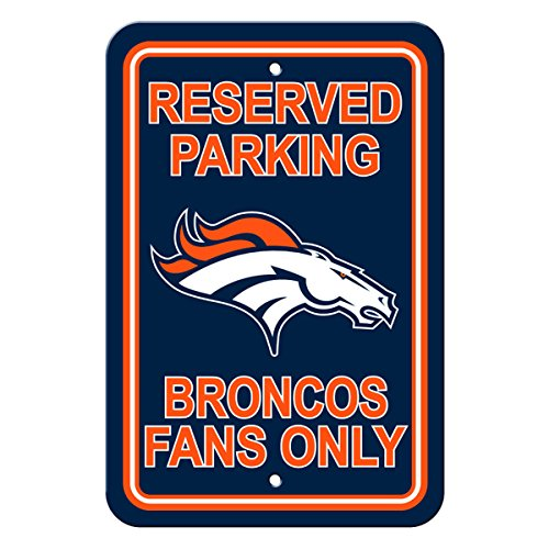 Denver Broncos Parking Sign - Officially Licensed NFL Fan Reserved Parking Sign - Denver Broncos