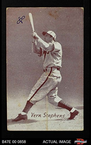 1947 Exhibits STB Vern Stepehens St. Louis Browns (Baseball Card) (Team is Browns) Dean's Cards 2 - GOOD Browns (Baseball Stb)