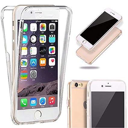 b1b723a0fdb Generica - Funda TPU Doble Frontal y Trasera 360 Ultra Thin Fina Iphone 5 y  5S