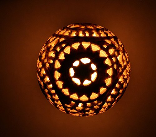 Artistic India Soapstone Tealight Candle Holder Sphere,4'',Shaped with Intricate Tendril Openwork-Table Decorative Candle Holders for Home, Living Room & Office. by Artistic India (Image #2)