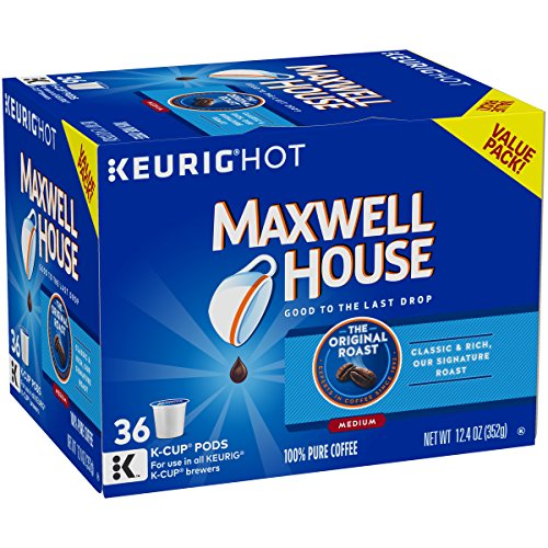 Maxwell House Original Medium Roast Keurig K Cup Coffee Pods (36 -