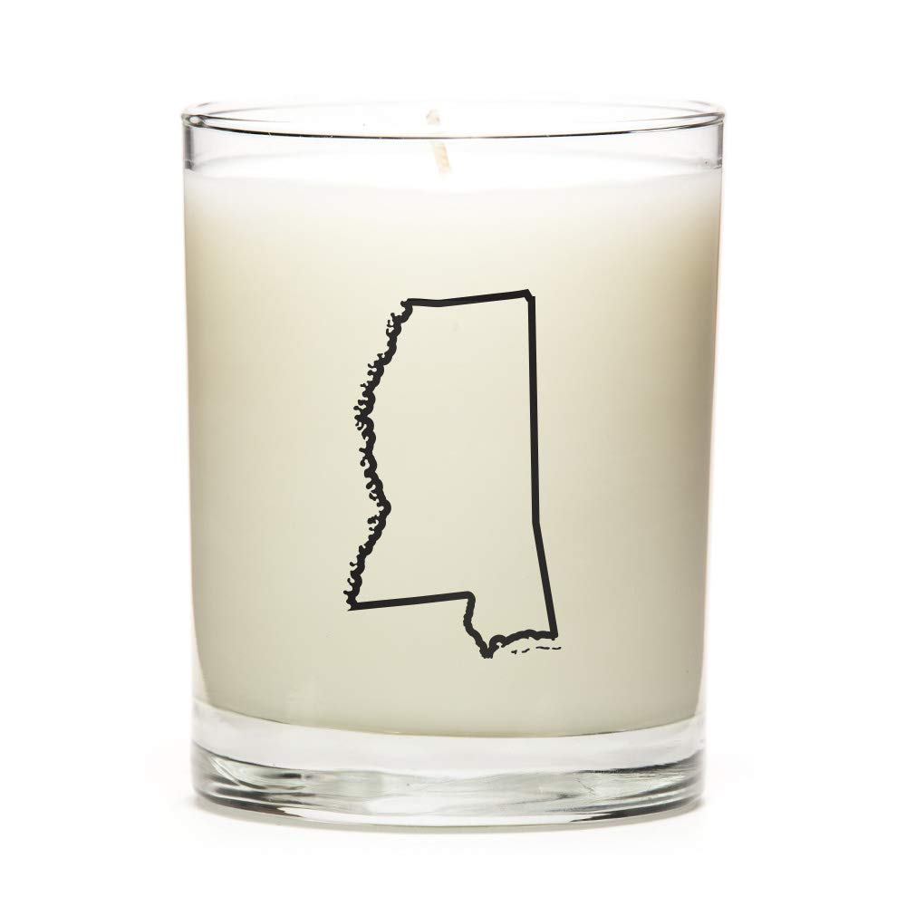 Luna Candle Co. Made to Order Personalized and Custom Candles with The Map Outline of Mississippi State! Personal Gift at a Excellent Price. Premium Soy Wax, Apple Cinnamon