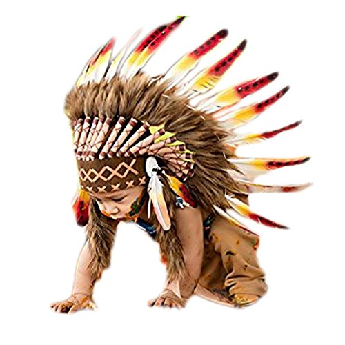 [N04- For 9 to 18 month Baby: Native American Style headdress] (Toddler Indian Costumes)