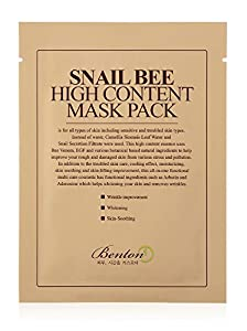 Benton Benton snail bee high content sheet mask pack, 20 gr, 10 pieces, 10 Count