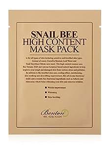 Benton Benton snail bee high content sheet mask pack, 20 gr, 10 pieces, 10 Count