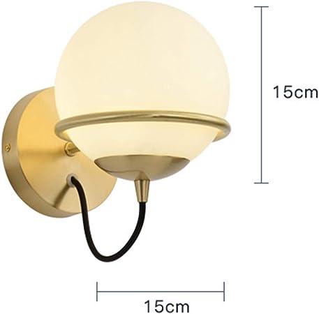 LXSEHN Aplique LED Moderno Personalidad Todo Bronce Habitación Lámpara De Noche, Pelota Pasillo Escalera Luces Decorativas, Iluminación Lámparas linternas (Color : Brass-2pack): Amazon.es: Hogar