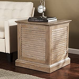 "SEI Abram Louvered Storage Trunk End Table - Burnt Oak - 22"" W x 21"" D x 24.5"" H"