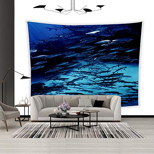 Tarpon Hanging - BEISISS Art Polyester Wall Hanging Tapestry,Theme- Cayman Tarpon,Bedroom Living Room Dormitory Wall Hanging Tapestry-80 x60